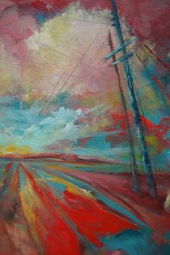 24 Cr Contact Point Contemporary Oil Painting by Ren e Rey - 1385321