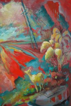 24 Cr Contact Point Contemporary Oil Painting by Ren e Rey - 1385331