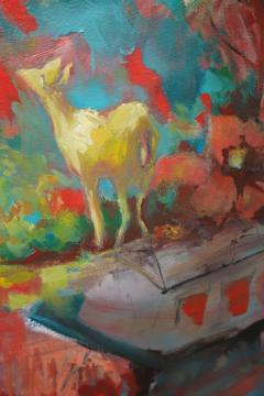 24 Cr Contact Point Contemporary Oil Painting by Ren e Rey - 1385339