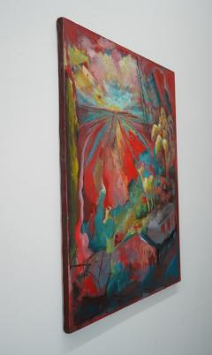 24 Cr Contact Point Contemporary Oil Painting by Ren e Rey - 1385352