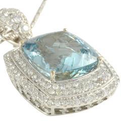 26 85 Carat Aquamarine Pendant Enhancer with Diamonds - 2054882