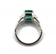 2CT Natural Colombian Emerald and Diamond 14KT White Gold Ring - 1904525