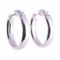 3 08 CTW Diamond Inside Out Huggie 18KW Earrings - 2146963
