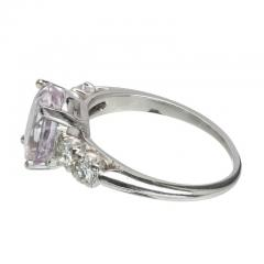 3 39 Carat GIA Certified Pink Oval Sapphire Diamond Platinum Engagement Ring - 388747