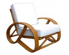 3 4 Round Pretzel Rattan Lounge Chair With Ottoman   66375
