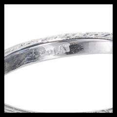3 90 cts Art Deco Natural Violet Blue Sapphire Diamond Platinum Engagement Ring - 394339