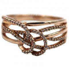 3 D Natural Diamond Ring in 10KT Rose Gold - 1771207
