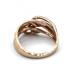 3 D Natural Diamond Ring in 10KT Rose Gold - 1771208