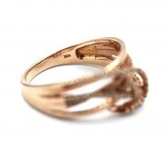 3 D Natural Diamond Ring in 10KT Rose Gold - 1771209