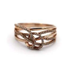 3 D Natural Diamond Ring in 10KT Rose Gold - 1772613