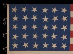 30 Stars on an Antique American Flag Made in the Period Between 1870 1890 - 638245