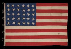 30 Stars on an Antique American Flag Made in the Period Between 1870 1890 - 638249
