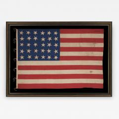30 Stars on an Antique American Flag Made in the Period Between 1870 1890 - 638292