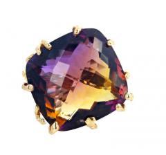 36 Carat Ametrine Amethyst Citrine Gold Ring - 1865985