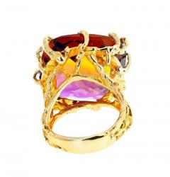 36 Carat Ametrine Amethyst Citrine Gold Ring - 1865987