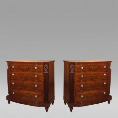 Pair Four Drawer Chests or Elliptic Bureaus with Egyptian Figures about 1815 - 7389