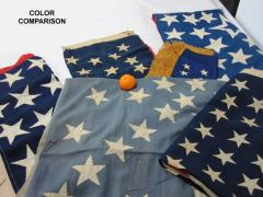 38 Stars in a Starburst Cross on an Antique American Flag Colorado Statehood - 648936