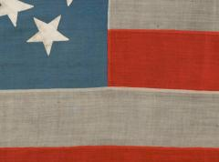 38 Stars in a Starburst Cross on an Antique American Flag Colorado Statehood - 648937