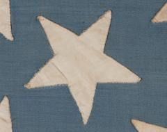38 Stars in a Starburst Cross on an Antique American Flag Colorado Statehood - 648942