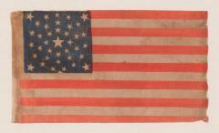 38 Stars in a Summer Sky Medallion Antique American Flag Colorado Statehood - 648955