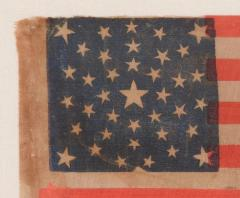 38 Stars in a Summer Sky Medallion Antique American Flag Colorado Statehood - 648956