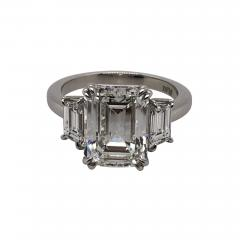 4 11 ct emerald cut diamond ring - 1693464