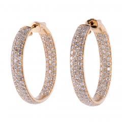 4 37 CTW Diamond Inside Out Huggie 18K Earrings - 2139353