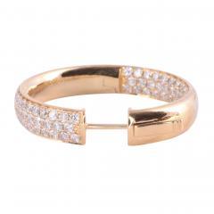 4 37 CTW Diamond Inside Out Huggie 18K Earrings - 2139356