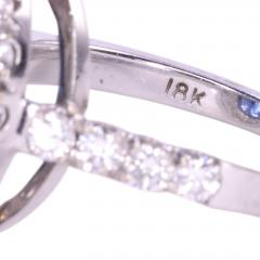 4 40 Carat GIA Certified Natural Sapphire and Diamond Ring Size 6 - 1991392