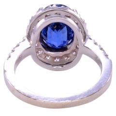4 40 Carat GIA Certified Natural Sapphire and Diamond Ring Size 6 - 1991393