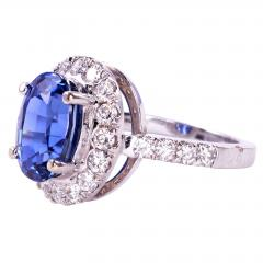 4 40 Carat GIA Certified Natural Sapphire and Diamond Ring Size 6 - 1991394