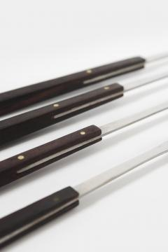 4 fondue forks with wooden handle Japan 60s - 1782803
