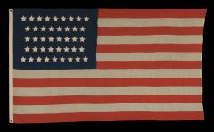 42 Stars in an Hourglass Pattern on an Antique American Flag - 638199