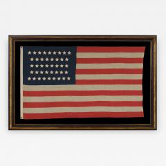 42 Stars in an Hourglass Pattern on an Antique American Flag - 638290