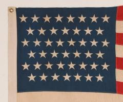 45 Stars on a Attractive Denim Blue Canton Cotton Bunting American Flag - 636728