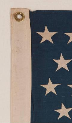 45 Stars on a Attractive Denim Blue Canton Cotton Bunting American Flag - 636730