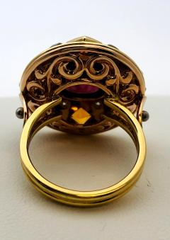 5 23 Carat Spinel Citrine and Diamond 18k Yellow and Rose Gold Ring - 1099516
