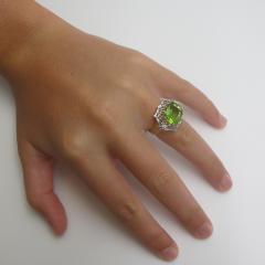 5 70 Carat Peridot and Diamond Ring - 1099754