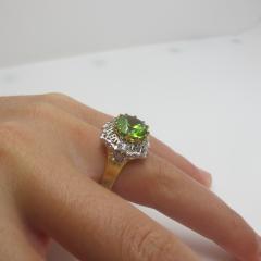 5 70 Carat Peridot and Diamond Ring - 1099755