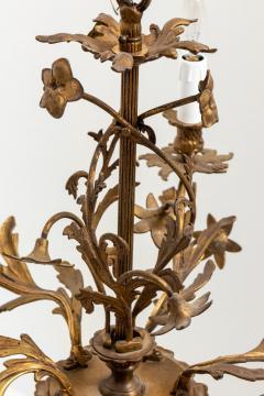 5 Stem Brass Chandelier - 1614834