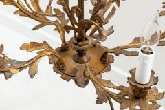 5 Stem Brass Chandelier - 1614835