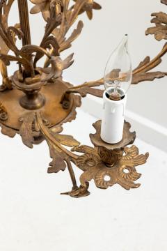 5 Stem Brass Chandelier - 1614836