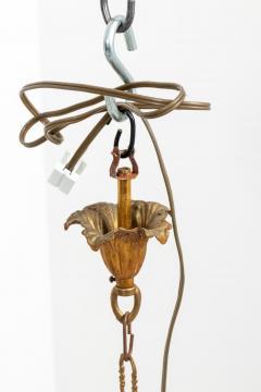 5 Stem Brass Chandelier - 1614839