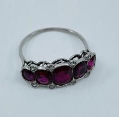 5 Stone Ruby Ring - 1775620
