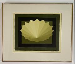 5 Watercolors Adrian Murphy Telespective Related Forms Mandala Rising 1970  - 2079113