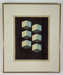 5 Watercolors Adrian Murphy Telespective Related Forms Mandala Rising 1970  - 2079114