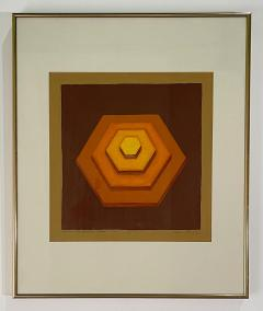 5 Watercolors Adrian Murphy Telespective Related Forms Mandala Rising 1970  - 2079115
