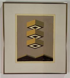 5 Watercolors Adrian Murphy Telespective Related Forms Mandala Rising 1970  - 2079129