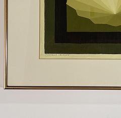 5 Watercolors Adrian Murphy Telespective Related Forms Mandala Rising 1970  - 2094161