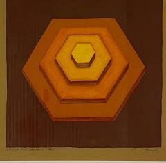 5 Watercolors Adrian Murphy Telespective Related Forms Mandala Rising 1970  - 2094162